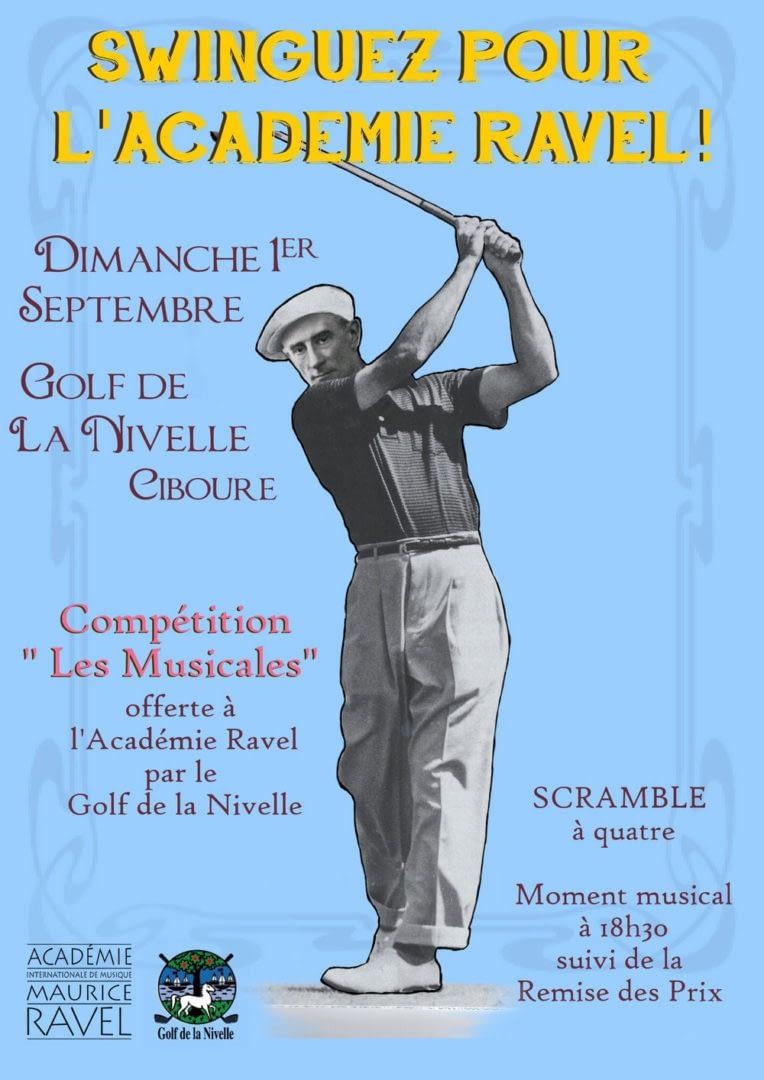 Affiche réalisée pour l'Académie Internationale de Musique Maurice Ravel